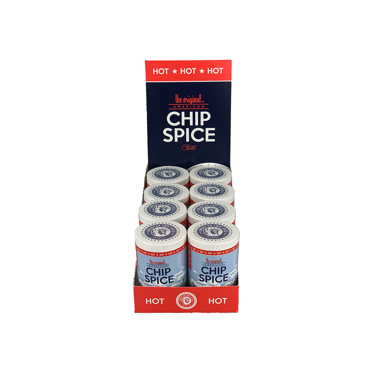 American Chip Spice (Hot) Retail Pack (8 x 85g)